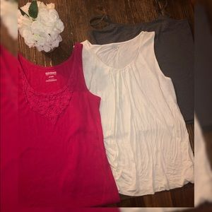 💄3 for $12! 3 knit tanks XL